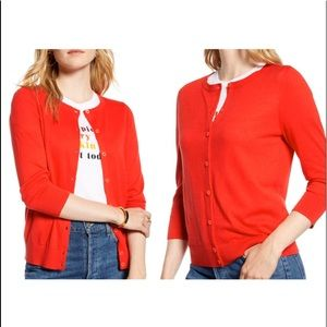 Tommy Hilfiger | Red Button Front Cardigan | Sz S